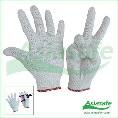 Găng tay sợi màu kem GSH02