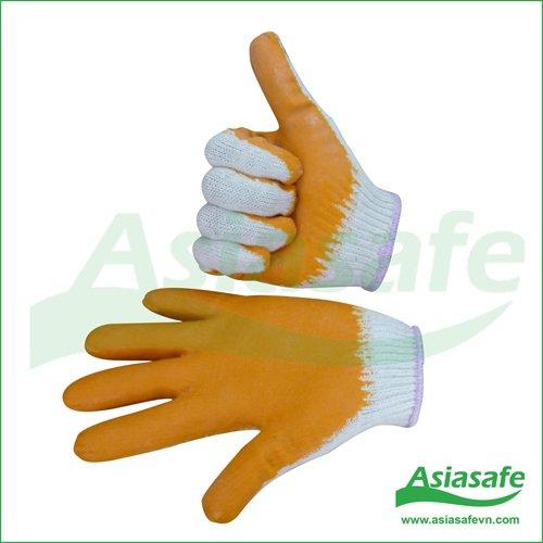 Găng tay sợi phủ cao su GSPC01
