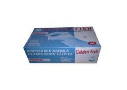 Găng tay y tế nitrile Golden Fish nhập khẩu( màu xanh)