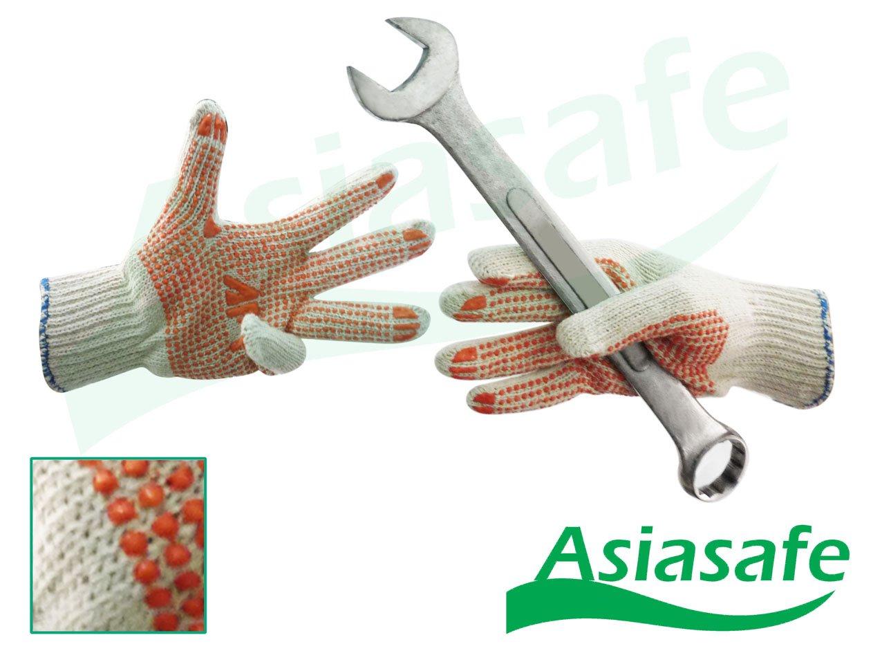 Găng tay sợi chấm nhựa