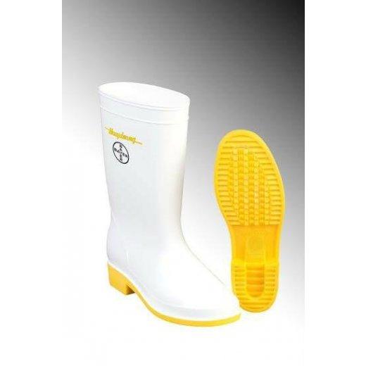 Dự án in 10,000 đôi ủng trắng vàng in logo tập đoàn Bayer - Đức