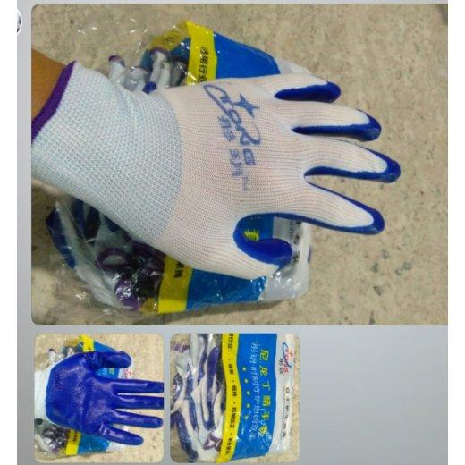 Găng tay sợi dệt kim 13 phủ lòng bàn tay