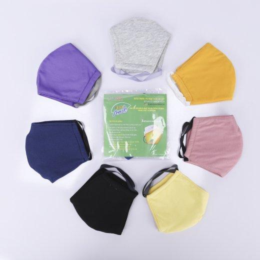 Khẩu trang vải 3 lớp kháng khuẩn ( nhiều màu)
