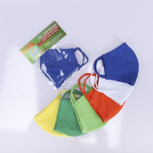 Khẩu trang vải kháng khuẩn sx bới cty Asia Safe ( loại 2 lớp, thun co dãn 4 chiều)