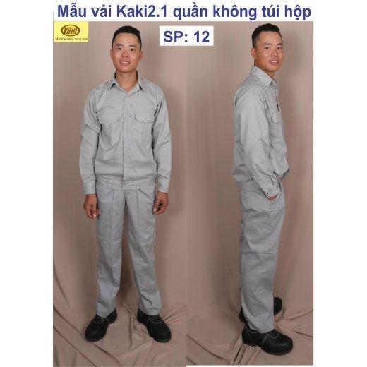 Trang phục bảo hộ lao động mẫu vải kaki 2.1 quần không túi hợp