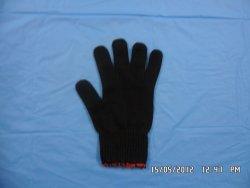 Găng tay sợi poly đen 40g/50g máy 10