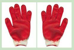 Găng tay len phủ cao su đỏ 35g