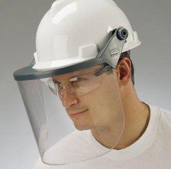 Nón bảo vệ kết hợp kính che mặt