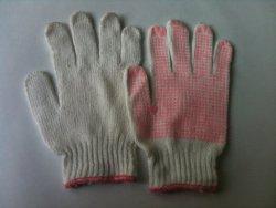 Găng tay len hạt nhựa PVC màu hồng (xuất khẩu)
