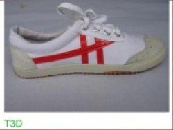 Giày vải bata Bình Minh( giày trắng, sọc đỏ)