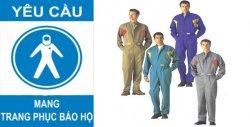 Biển báo yêu cầu mang trang phục bảo hộ