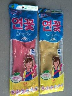 New : Găng tay cao su gia dụng Bông Sen - Korea