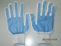 Găng tay sợi poly hạt nhựa PVC Hàn Quốc