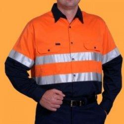 Áo quần công nhân kt (gắn phản quang 3M)