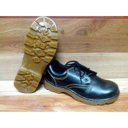 Giày da mũi sắt thấp cổ ABC đế vàng