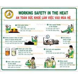 Tranh cổ động làm việc an toàn mùa hè
