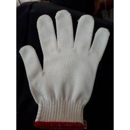 Găng tay poly trắng kim 10 máy điện tử