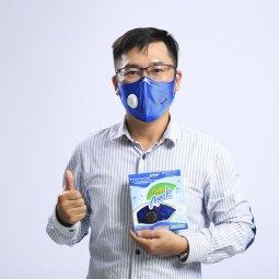 New 10/2019:  Khẩu trang than hoạt tính Asia Mask có van thoát không khí