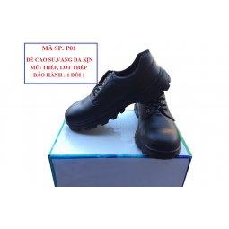 Giày da mũi thép đế cao su P01